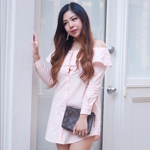 3bb777c1f0e Petite Bardot Button Shirt Dress